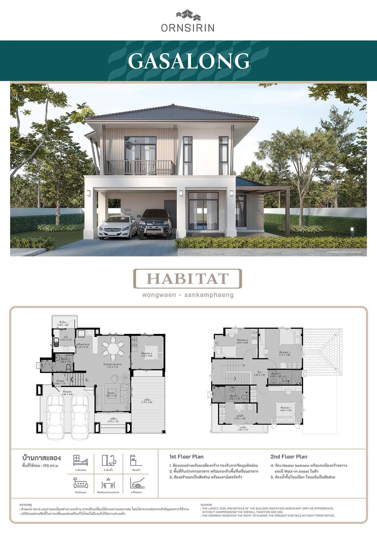 แบบบ้าน Gasalong ฮาบิแทท Habitat
