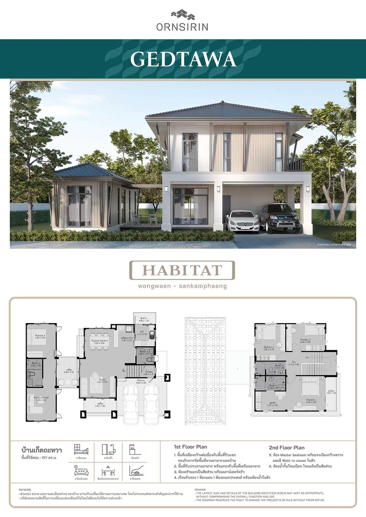 แบบบ้าน Gedtawa ฮาบิแทท Habitat