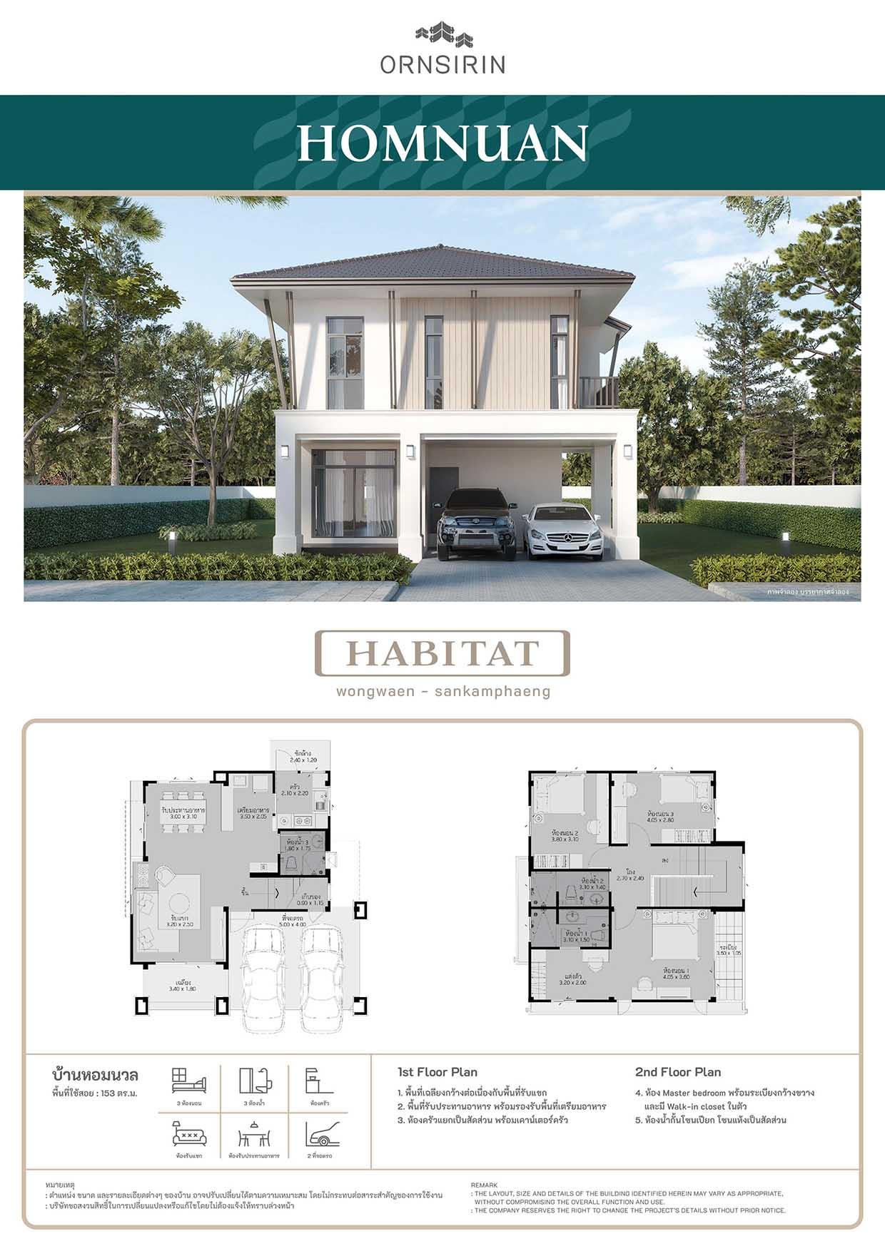 แบบบ้าน Homnuan ฮาบิแทท Habitat